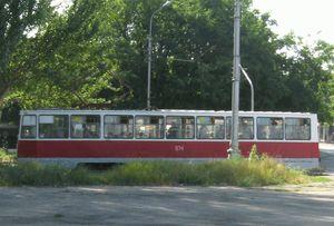Преобладают трамваи модели КТМ-5 (71-605)